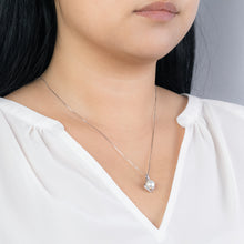 Load image into Gallery viewer, Cultured Pearl and Diamond Pendant in 14K White Gold
