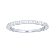 Load image into Gallery viewer, 10K White Gold Matching Wedding Band (0.125 ct tw)