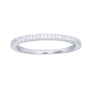 10K White Gold Matching Wedding Band (0.125 ct tw)