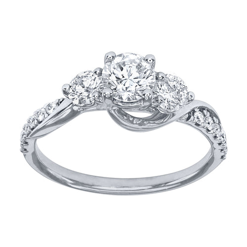 14K White Gold Engagement Ring (1.00 ct tw)