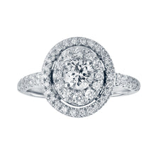 Load image into Gallery viewer, 14K Double Halo Diamond Engagement Ring (1.00 ct tw)