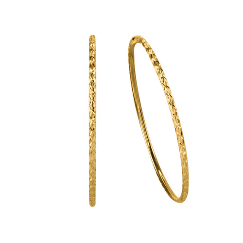 50mm Hoop Earrings in 10K Yellow Gold
