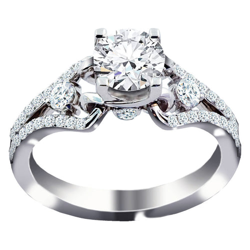 Diamond Engagement Ring in 18K White Gold (1.41ct tw)