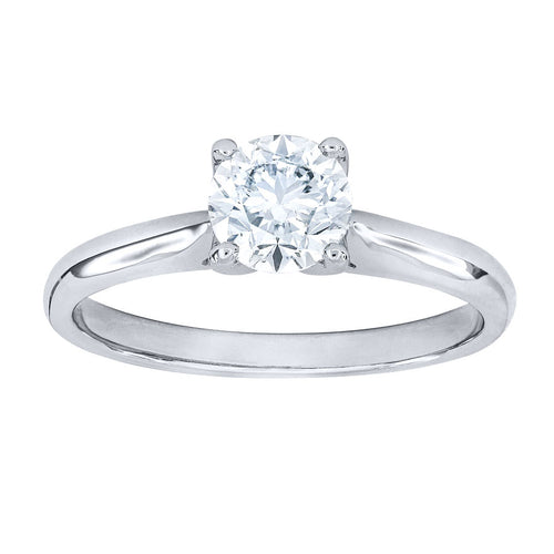 Diamond Solitaire Engagement Ring in 19K White Gold (0.70 ct tw)