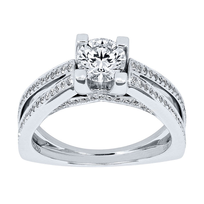 Lumina Diamond Engagement Ring in 18K White Gold (1.11ct tw)