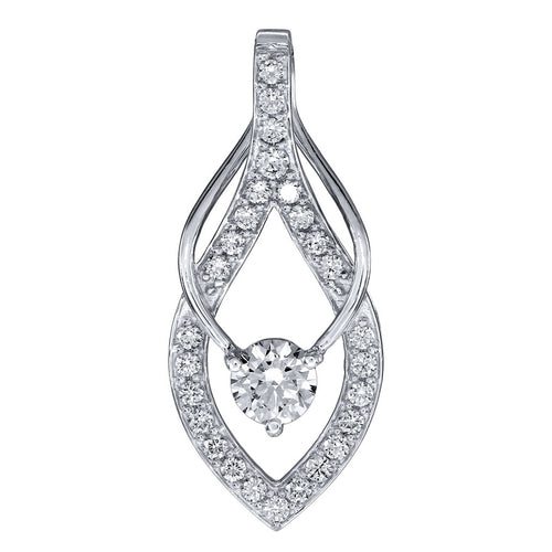 Lumina Ideal Cut Diamond 18K Pendant in White Gold (0.56ct tw)