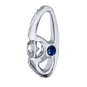 Lumina Ideal Cut Diamond and Sapphire 18K Pendant in White Gold (0.43ct tw)