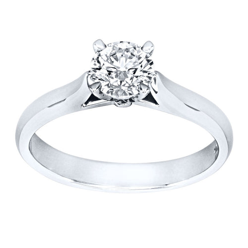 Lumina Ideal Cut Diamond Classic Solitaire Engagement Ring in 19K White Gold (0.60ct tw)
