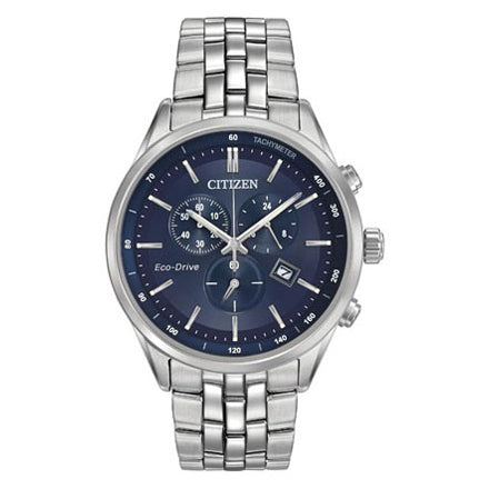 Citizen Men's Corso Eco-drive Blue Dial Stainless Steel Watch