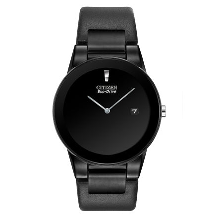 Citizen Men's Axiom Black Leather Strap Watch