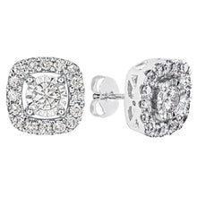 Load image into Gallery viewer, Halo Diamond Stud Earrings in 10K White Gold (1.00ct tw)