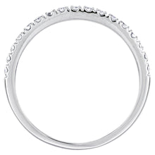Load image into Gallery viewer, Diamond Micro-Claw Set Wedding Band in 14K White Gold (0.24ct tw)