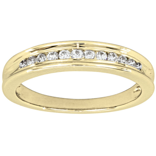 Ladies Diamond Wedding Band in 10K Yellow Gold (0.20ct ctw)