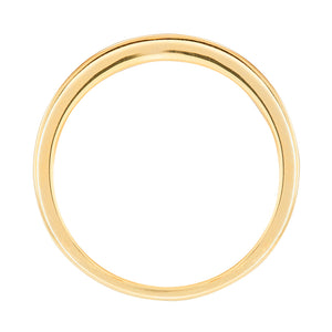 14K Channel Set Diamond Yellow Gold Wedding Band (0.40ct tw)