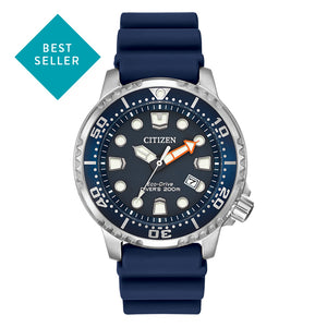 Citizen Men's Promaster Diver Eco-Drive Blue Dial Blue Rubber Strap Watch | BN0151-09L