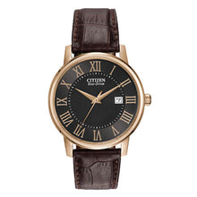 Load image into Gallery viewer, Citizen Men's Corso Eco-Drive Brown Leather Watch | BM6759-03E
