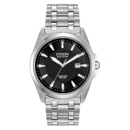 Citizen Men's Corso Eco-Drive Black Pattern Dial Watch