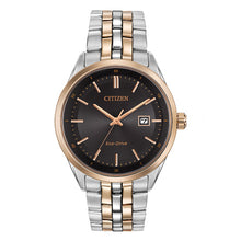 Load image into Gallery viewer, Citizen Men's Corso Eco-Drive Two-Tone Black Dial Watch | BM7256-50E