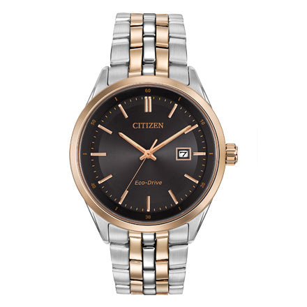 Citizen Men's Corso Eco-Drive Two-Tone Black Dial Watch | BM7256-50E
