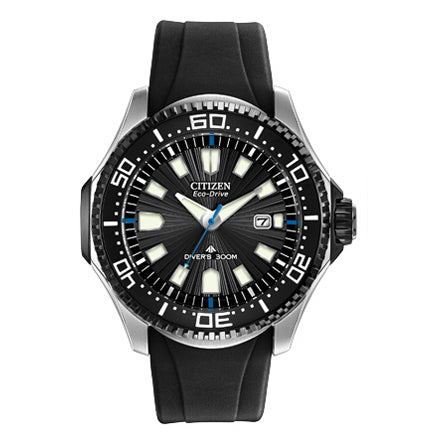 Citizen Men's Promaster Diver Eco-Drive Black Rubber Strap Watch