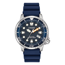 Load image into Gallery viewer, Citizen Men's Promaster Diver Eco-Drive Blue Dial Blue Rubber Strap Watch | BN0151-09L