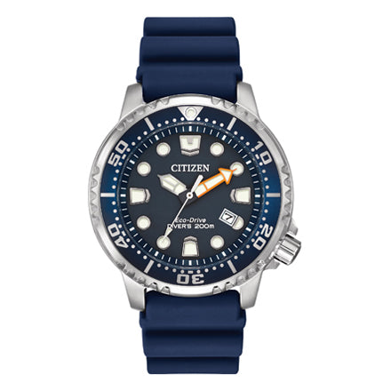 Citizen Men's Promaster Diver Eco-Drive Blue Dial Blue Rubber Strap Watch