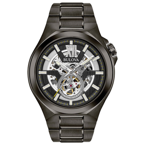 Bulova Men's Classic Automatic Watch Black Stainless Steel | 98A179