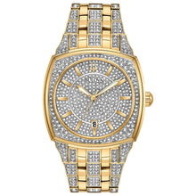 Load image into Gallery viewer, Bulova Men's Gold Crystal Pave Watch