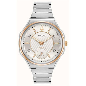Bulova Women's Curv Watch In Two Tone Stainless Steel | 98P182