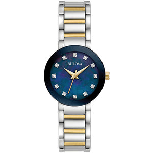 Bulova Women's Futuro Watch In Two Tone Stainless Steel