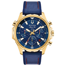 Load image into Gallery viewer, Bulova Men's Marine Star Chronograph Blue Dial Blue Strap Watch | 97B168