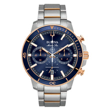 Load image into Gallery viewer, Bulova Men's Marine Star Chronograph Blue Dial Stainless Steel Watch | 98B301
