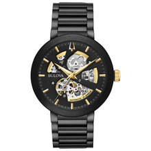 Load image into Gallery viewer, Bulova Men's Modern Automatic Black Dial Black Bracelet Watch | 98A203