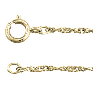 "10K Yellow Gold 1.4mm Singapore Chain (18"")"