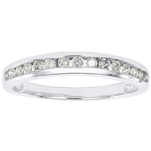Channel Set Wedding Band in 14K White Gold (0.30ct tw)