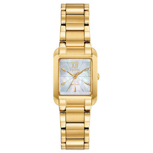 Citizen Bianca Ladies Eco-Drive Watch In Gold Tone
