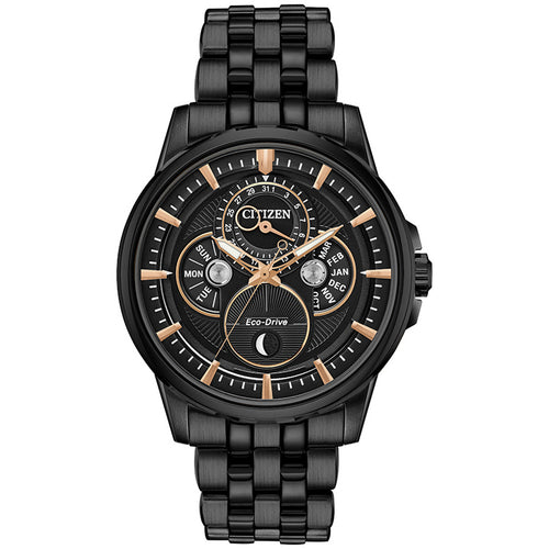 Citizen Calendrier Men's Eco-Drive Watch In Black
