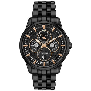 Citizen Calendrier Men's Eco-Drive Watch In Black | BU0057-54E