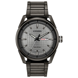 Citizen Drive Men's Eco-Drive Watch In Gray Ion Plated Stainless Steel | AW0087-58H