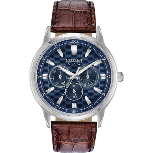 Citizen Men's Corso Eco-Drive Stainless Steel Blue Dial Watch