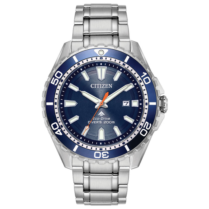 Citizen Men's Promaster Diver Eco-Drive Blue Dial Watch | BN0191-55L