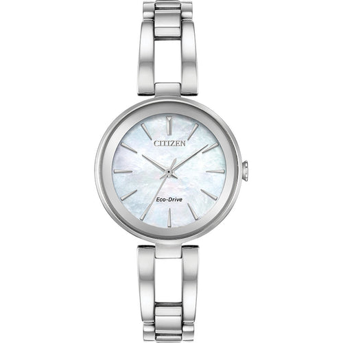 Citizen Women's Axiom Eco-Drive Mother of Pearl Dial Stainless Steel Watch