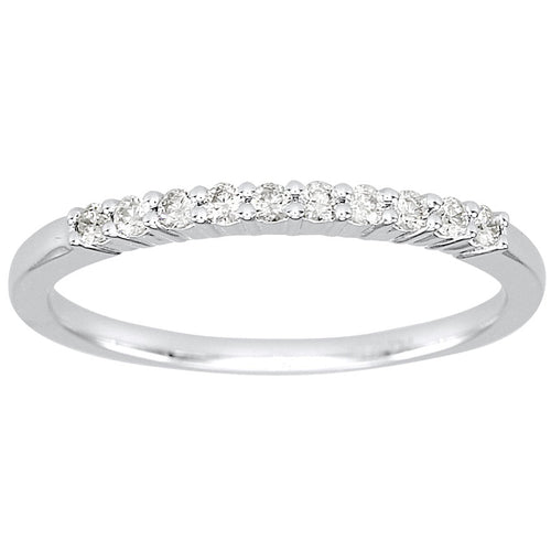 14K White Gold Claw Set Diamond Wedding Band (0.30ct tw)