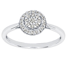 Load image into Gallery viewer, Cluster Centre Ring in 14K White Gold (0.22ct tw)