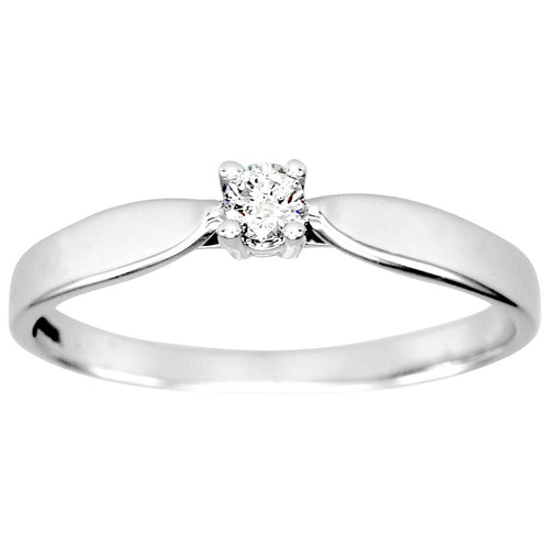 Diamond Solitaire Promise Ring in 10K White Gold (0.08ct tw)