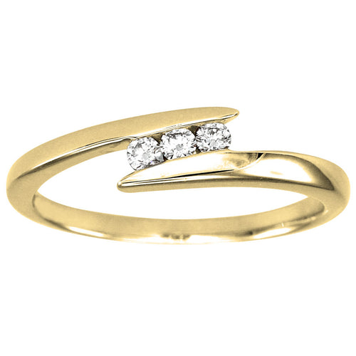 Diamond Anniversary Ring in 10K Yellow Gold (0.10ct tw)