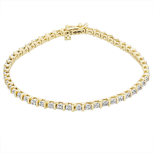 Diamond Bar Tennis Bracelet in 10K Yellow Gold (1.00ct tw)