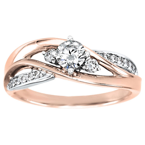 Diamond Engagement Ring in 14K Rose and White Gold (0.45ct tw)