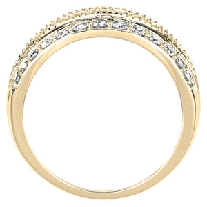 Diamond Statement Ring in 10K Yellow Gold (1.00ct tw)
