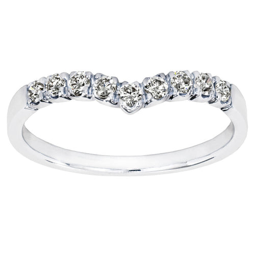 Diamond V Ring in 18K White Gold (0.25ct tw)